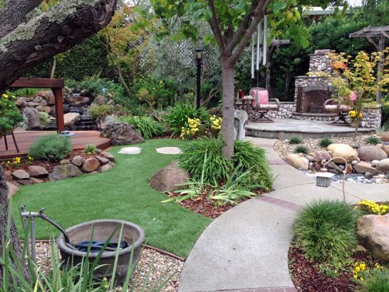 Artificial Grass Photos: Plastic Grass Weston, Florida Paver Patio, Backyard Landscape Ideas