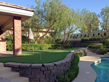 Artificial Grass Photos: Synthetic Grass Carrollton, Texas Paver Patio, Backyard Landscaping Ideas